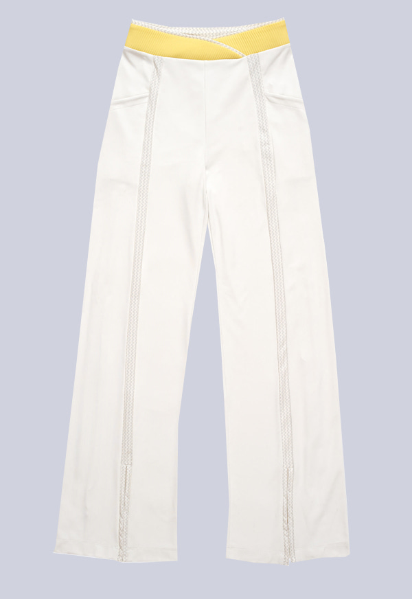 R_W331 Pre & Post Pants White